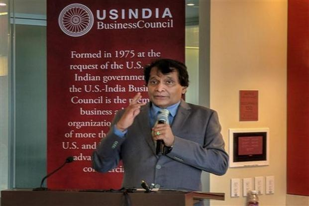 'We will now work together to expand (bilateral) trade,' commerce and industry minister Suresh Prabhu told a group of Indian reporters in Washington on Tuesday at the conclusion of his two-day trip to the US. Photo: PTI