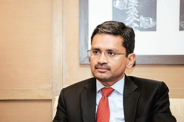 Tata Consultancy Services CEO Rajesh Gopinathan. On Friday, TCS share price rose 2.94% to Rs1,845 on BSE while the benchmark index Sensex closed 0.06% higher at 35, 622.14  points. Photo: Mint