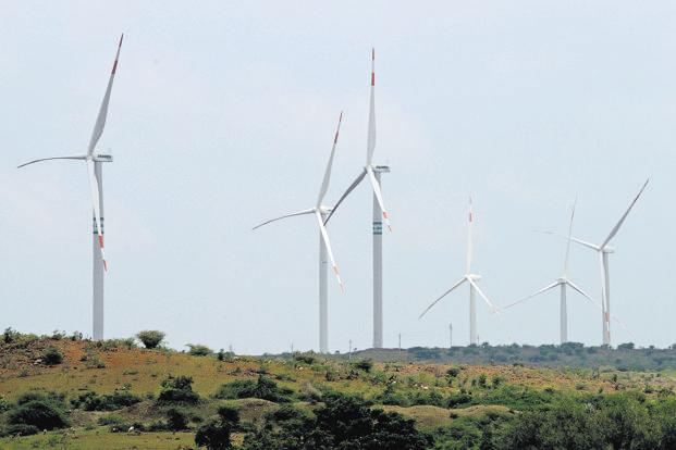 India has set an ambitious renewable energy target of generating 100 GW from solar power projects and 60GW from wind power plants by March 2022. Photo: Mint