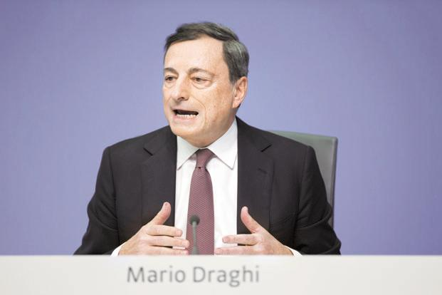 As soon as Mario Draghi took the reins of European Central Bank from Jean-Claude Trichet, the bank ordered a large-scale asset purchase programme to soothe fears of an euro collapse. Photo: Bloomberg