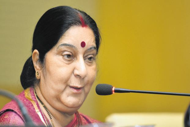 File photo: External affairs minister Sushma Swaraj. Photo: Ramesh pathania/Mint