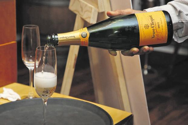 The Veuve Clicquot champagne to ready the palette.