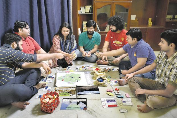 The Fields Of View team with their games. Photo: Jithendra M./Mint