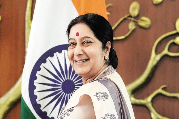 A file photo of external affairs minister Sushma Swaraj. The US postpones the first '2+2 dialogue' with India. Photo: Mint