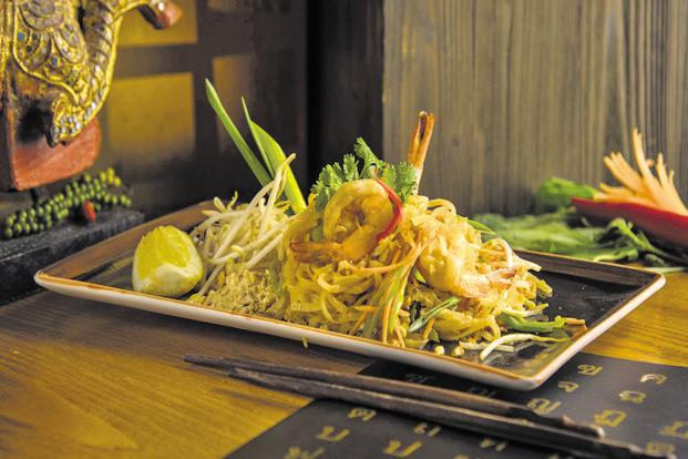 The prawn pad Thai at Thai Square. Photo: Daniel Ogulewicz