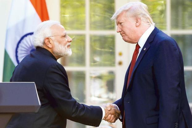 Prime Minister Narendra Modi and US President Donald Trump. Relations had remained strained between the US and India because of a spate of tit-for-tat actions on the trade front.