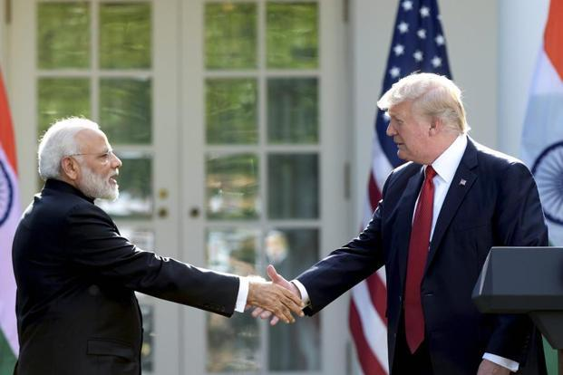 A file photo of Prime Minister Narendra Modi and US President Donald Trump. Photo: PTI