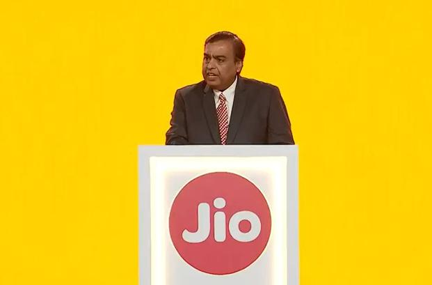 Reliance Industries chairman Mukesh Ambani at the 41st RIL AGM.