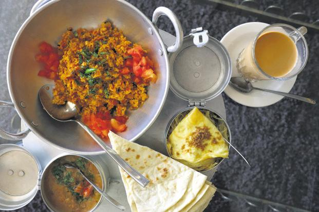 A traditional Bahraini breakfast at Darseen Café, Bahrain National Museum. Photo: Alamy