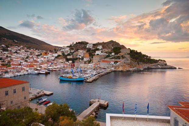 A view of Hydra port. Photo: Alamy