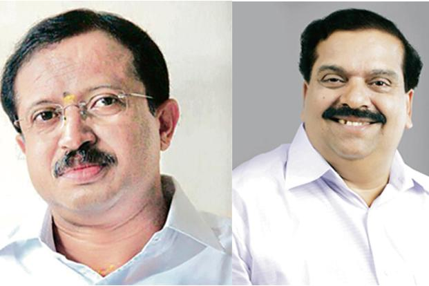V. Muraleedharan (left) and P.K. Krishna Das are vying for the post of BJP's Kerala unit chief.