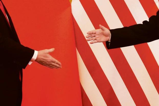 US President Donald Trump and China's President Xi Jinping at the Great Hall of the People in Beijing on 9 November 2017. Photo: Reuters
