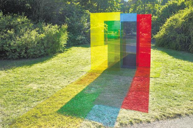 'No.814' by Rana Begum at the Frieze Sculpture Park, London. Photo courtesy: Stephen White/Frieze Sculpture Park