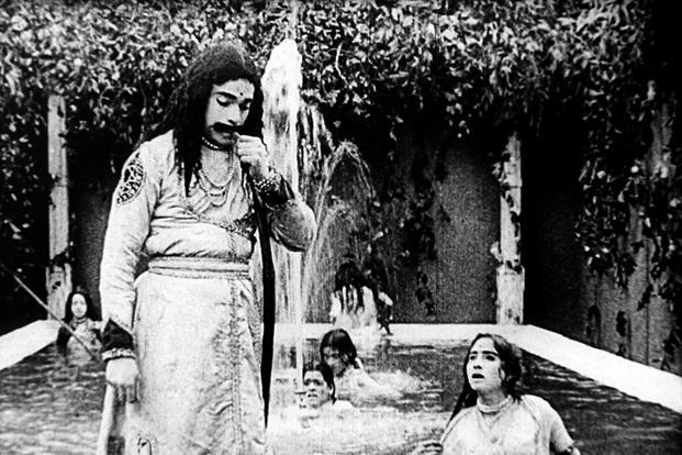 A still from 'Raja Harishchandra', one of the earliest films in the industry.