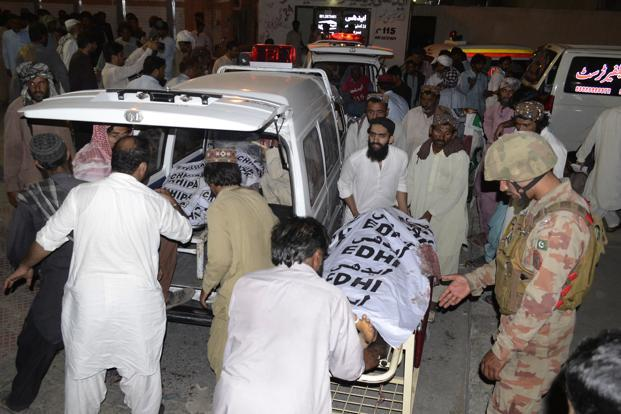 More than 120 others were also injured in the suicide bombing at an election rally in northwestern Mastung in the restive province of Balochistan. Photo: AP