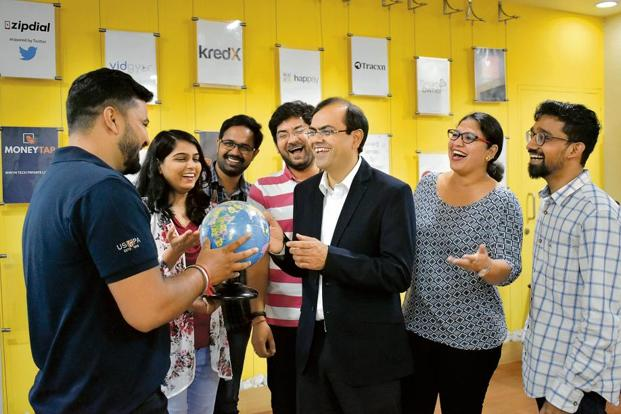 Amit Somani (centre) says working abroad has given him a clearer sense of self. Photo: Jithendra M/Mint