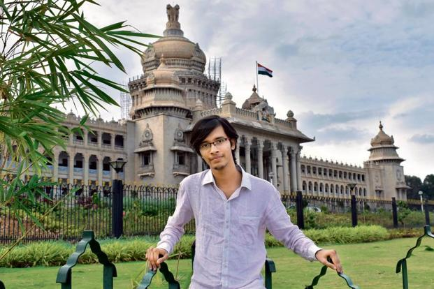 Two months into his internship, Kanan Gupta is using basic Kannada in his day-to-day life.Photo: Jithendra M/Mint