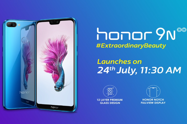 Honor 9N's launch event will be live-streamed on Honor's official YouTube channel and Facebook page at 11:30 am IST on July 24.
