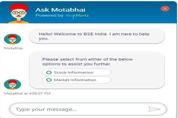 "BSE launches 'chatbot', ""Ask Motabhai"", for access to stock market information"
