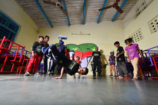 Students practising their dance moves at the After School of Hip Hop. Photo: Aniruddha Chowdhury/Mint