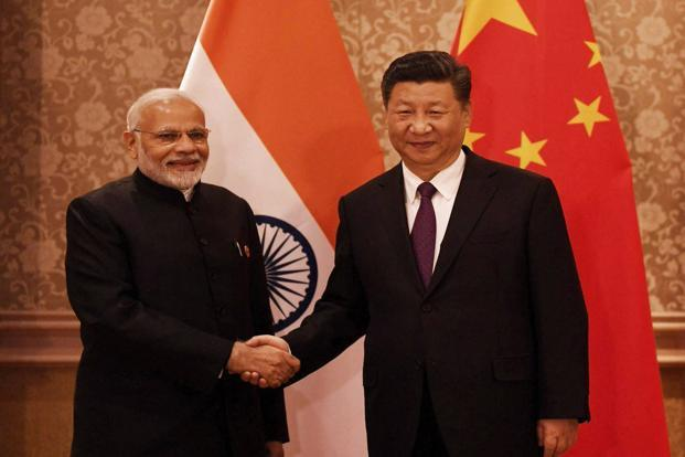 Prime Minister Narendra Modi with Chinese President Xi Jinping during a meeting in Johannesburg on Thursday on the sidelines of BRICS summit.