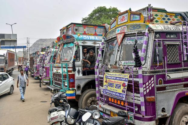 The transporters' strike began on 20 July.