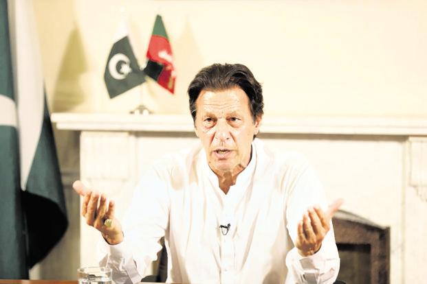In a speech claiming victory in Pakistan election, Imran Khan said 'if India takes one step forward (on peace with Pakistan) we will take two', but maintained Kashmir was a 'core issue'.