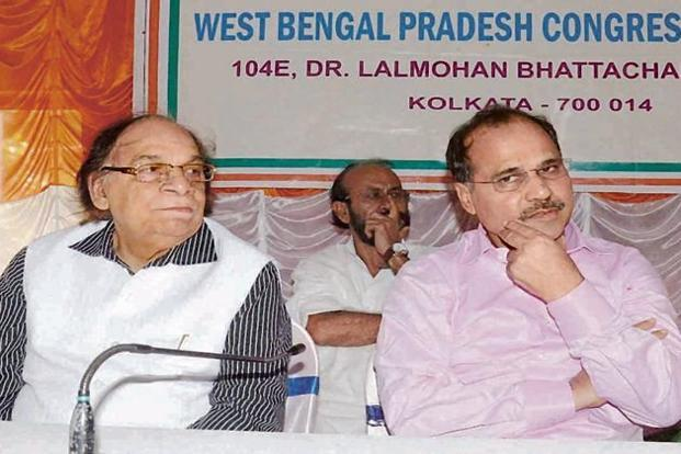 While state Congress president Adhir Ranjan Chowdhury (right) is keen to form an alliance with the Left parties, senior party leader Abu Hasem Khan Choudhury is against it. Photo: PTI