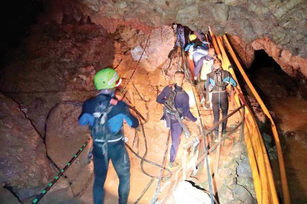 The Thai cave rescue was an example of teaming. Photo: AP