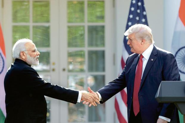 Indian Prime Minister Narendra Modi and US President Donald Trump. India-US bilateral trade rose to $115 billion in 2016, but the Trump administration wants to reduce its $31 billion deficit with India, and is pressing New Delhi to ease trade barriers.