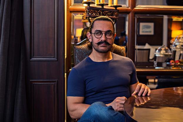 Aamir Khan at Le Meridien hotel, Delhi. Photo: Jasjeet Plaha/Hindustan Times