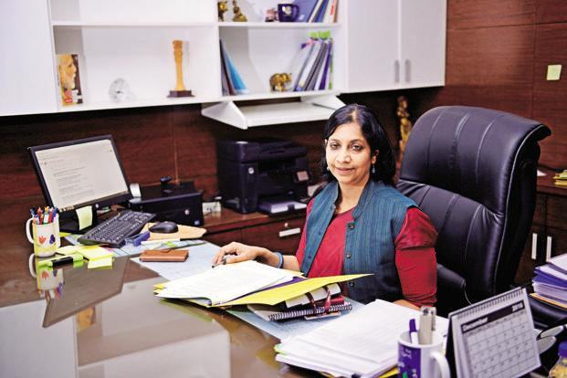 """We are not there yet,"" telecom secretary Aruna Sundararajan said in an interview in New Delhi, adding that complete roll-out of 5G will be done by 2022. Photo: Pradeep Gaur/Mint"