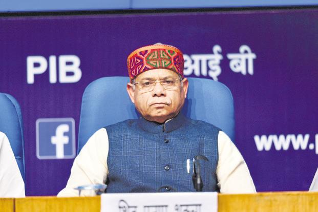 Minister of state (finance) Shiv Pratap Shukla. Photo: Pradeep Gaur/Mint