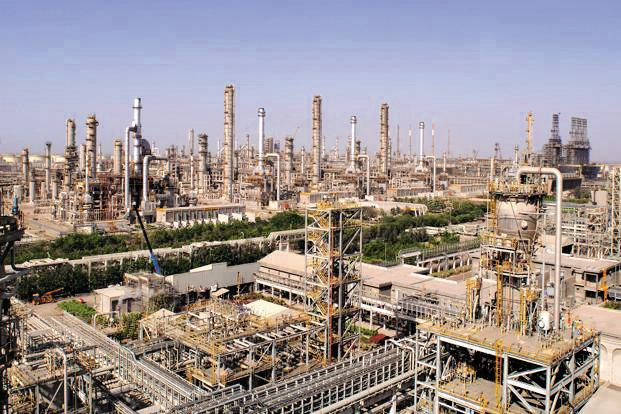 Reliance Industries operates the world's biggest refining complex in Jamnagar, Gujarat, where two adjacent plants can process about 1.4 million barrels of oil a day.