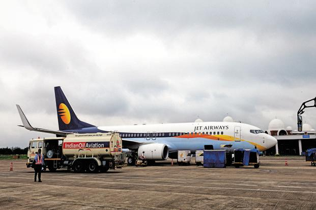 Jet Airways' shares slumped over 12% since 2 July and in intra-day trading on Friday, it touched a 52-week low of ₹286.95 apiece.