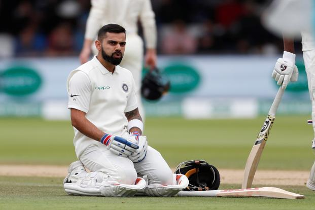 Indian captain Virat Kohli during the India England 2nd test match at the Lord's on Sunday. Photo: Reuters