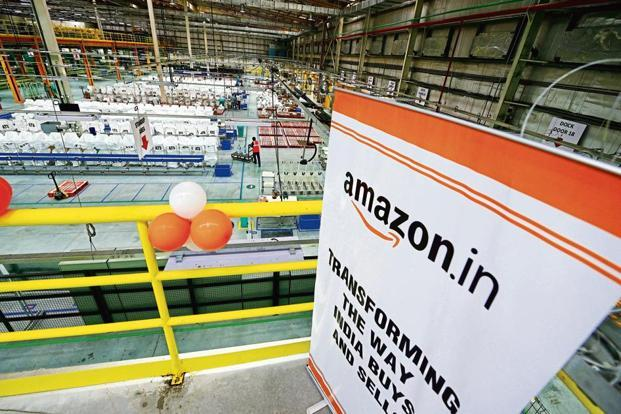 Amazon has been spending its cash on building massive warehouses, marketing, discounts and increasing product assortment. Photo: Ramesh Pathania/Mint