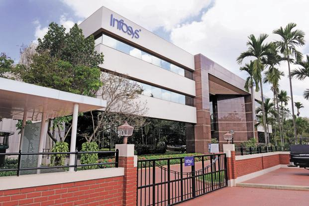 Shares of Infosys Ltd gained 1.75% to close at ₹1,409.45 on BSE on Monday. Photo: Mint