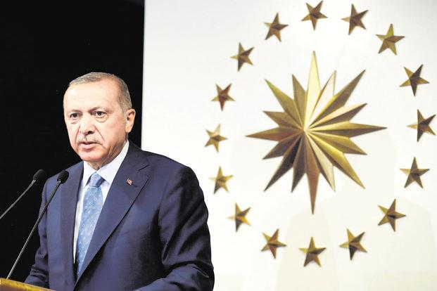 Turkey's President Recep Tayyip Erdogan. It was Donald Trump's trade war that has knocked Turkey so spectacularly off balance. Photo: PTI
