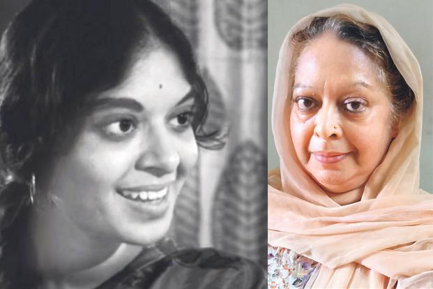 Nayana Puranik, 20, in the film; and today at 71.
