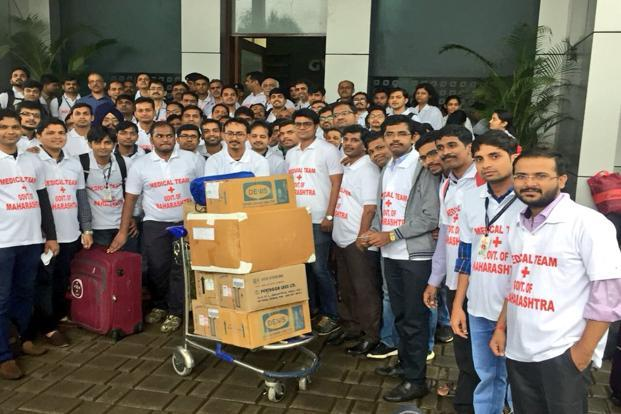 The team of doctors on their way to Kerala. Photo: Twitter@qtfan