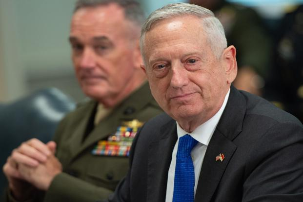 US Defence Secretary Jim Mattis has publicly been a strong proponent of granting India waivers. Photo: AFP