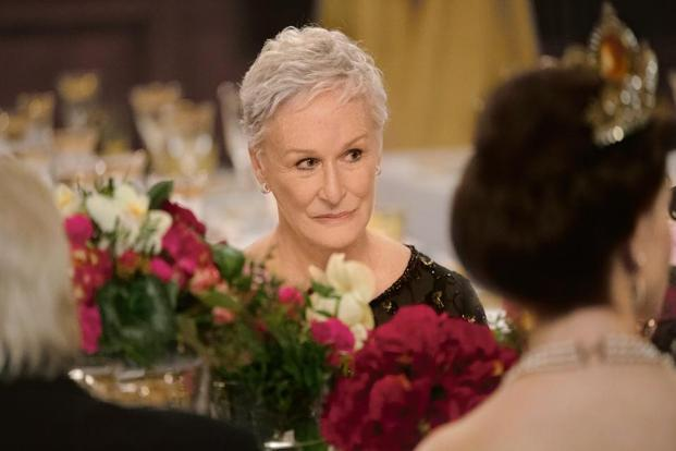 Glenn Close plays a spouse cheated of due credit in 'The Wife'.