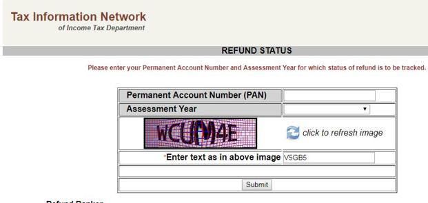 Income tax refund status can also be viewed at www.tin-nsdl.com website