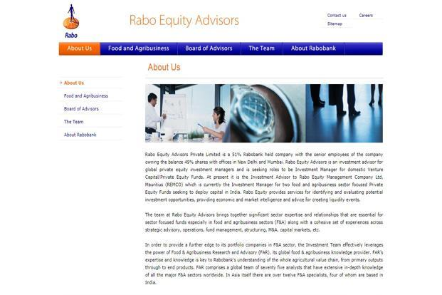 Rabo Equity Advisors, focused on investments in food and agribusiness sectors will be investing out of its India Agri Business Fund II.
