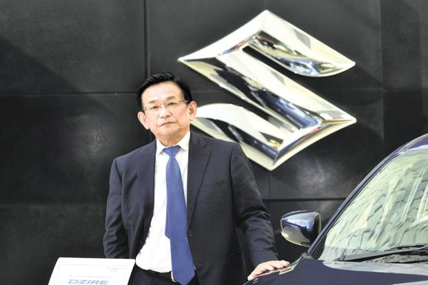 Maruti Suzuki CEO Kenichi Ayukawa. Shares of Suzuki advanced 1.7% as of the lunch-time trading break in Tokyo. They have added 13% this year. Photo: Ramesh Pathania/Mint