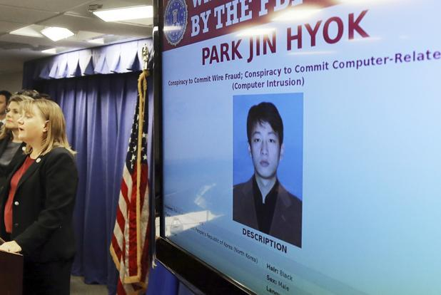 Jin Hyok Park, a North Korean hacker suspected to be a part of the 2014 cyber attack on Sony Corp. Photo: AP