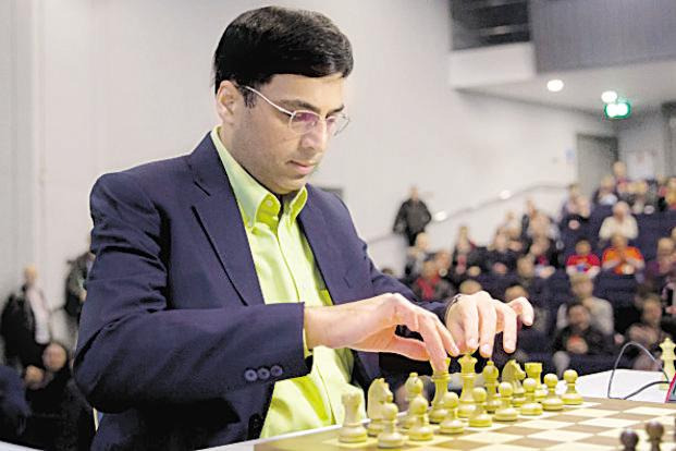 A file photo of Anand who is part of the Indian contingent for the Chess Olympiad later this month. It will be his first appearance in the tournament since 2006. Photo: AFP
