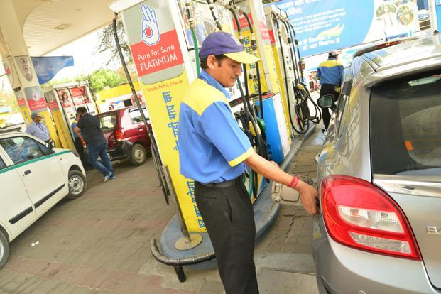 Fuel prices touched a new high on Sunday on the back of continuing rise in global oil prices