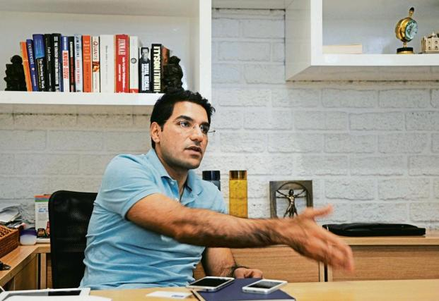 Quikr founder and chief executive Pranay Chulet. Photo: AFP